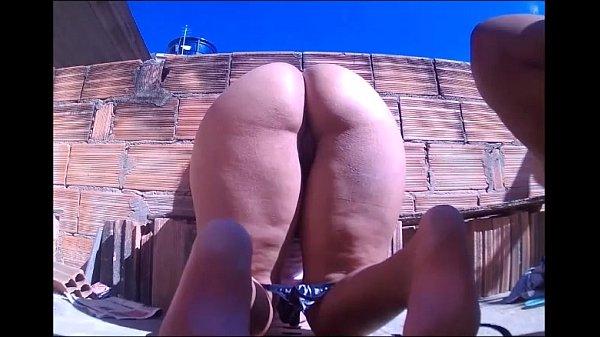 Enrabando muher Madura na Laje