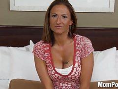 Amateur swinger MILF does first porn