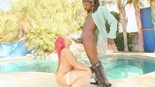 Chunky horny black girl Pinky ready to fuck