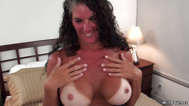 Big tits with tan lines