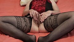 MILF masturbation orgasm masturbating finger only clit climate