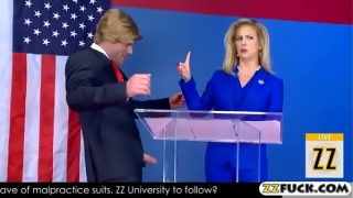 Presidente americano putaso comiendo una vieja amiga política