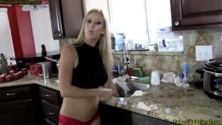 Blonde Stepmom Alexis Fawkx Touched Against Will While Stuck in Sink