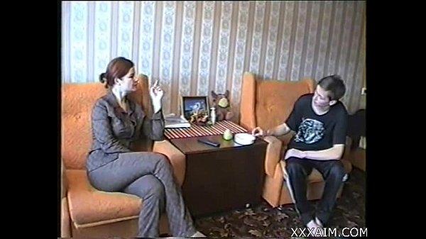Russian Milf seduces young Boy. Free webcams on xxxaim.com