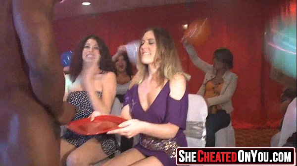 07 Hot milfs at cfnm party caught cheating